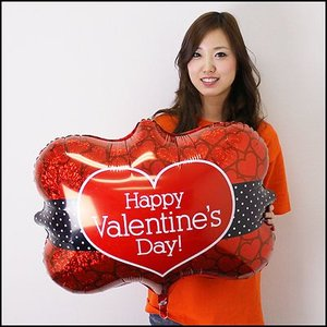 バレンタイン風船 バレンタインネイトフレーム 78cm /メール便5枚まで可/|event-ya