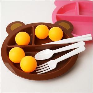 おはしとスプーンの練習 ボール運び 茶色皿|event-ya