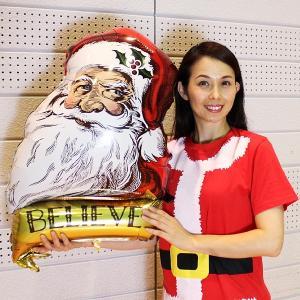 クリスマス風船 ヴィンテージサンタ H60cm/メール便可|event-ya