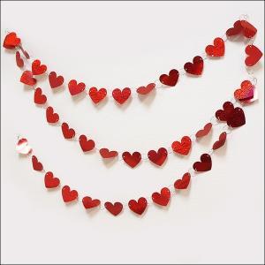 バレンタイン装飾 ハートリングバナー L270cm/ 動画有/メール便可|event-ya