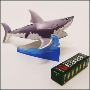 のりもハサミもいらない「ペーパークラフト」ホオジロサメ(10個) [動画有]|event-ya