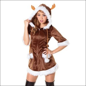 クリスマスコスチューム(女性用)ハッピートナカイ / コスプレ 衣装 仮装 パーティー サンタ|event-ya
