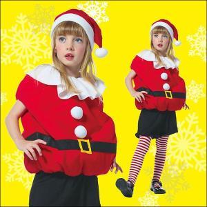子供用サンタクロースコスチューム キッズモコモコサンタ  / クリスマス・コスプレ・衣装・パーティー|event-ya