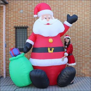 クリスマスエアブロー装飾 サンタ H300cm / ディスプレイ エアブロウ / 動画有|event-ya