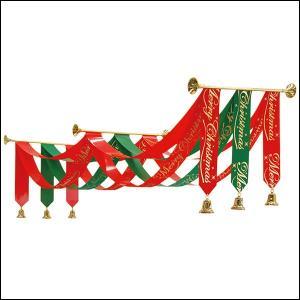 クリスマス装飾 ファンファーレクリスマスペナントハンガー L180cm|event-ya