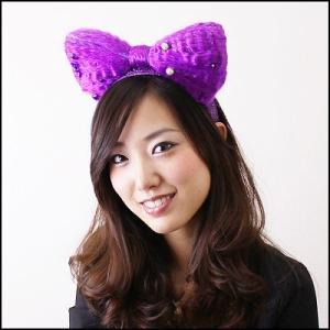 [在庫限り!処分特価]ふあふあカチューシャ 紫|event-ya