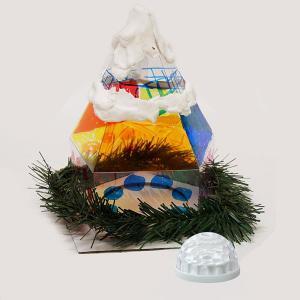 クリスマス手作り工作キット クリスマスツリーハウス作り 工作キット 粘土付、ランプ付 / 動画有|event-ya