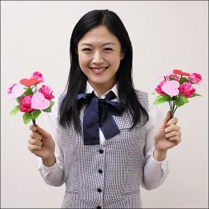 バレンタイン装飾 ハートミニブーケ 1本|event-ya