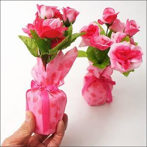 バレンタイン装飾 ローズペアポット H23cm|event-ya