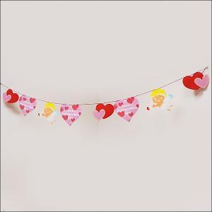 バレンタイン装飾 エンゼルハートバナー L160cm/メール便3セットまで可/ [動画有]|event-ya