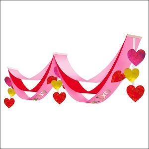 バレンタイン装飾 ラブリーバレンタインペナント L180cm|event-ya