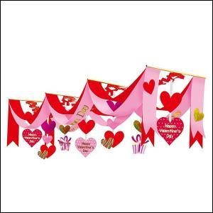 バレンタイン装飾 3連ラブリーペナント L180cm|event-ya