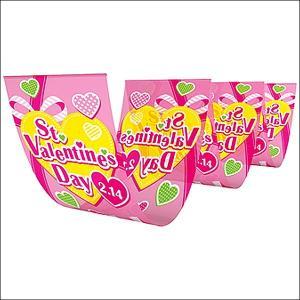 バレンタイン装飾 グリーンピンク三連ペナント|event-ya