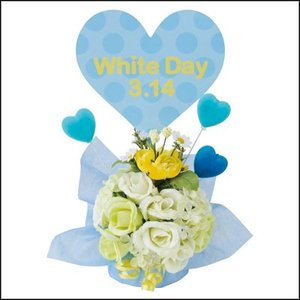 ホワイトデー装飾 ホワイトデーハッピースタンド H31cm / ディスプレイ 飾り バラ|event-ya