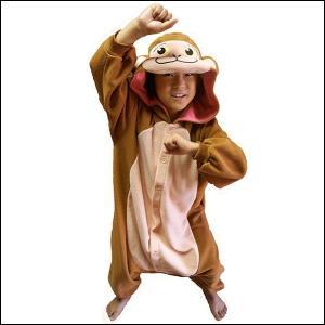 顔出し着ぐるみパジャマ Newサル(子供用) / 干支・申・猿・正月|event-ya