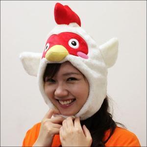 着ぐるみキャップなりきり帽子 ニワトリ / かぶりもの コスプレ 動物|event-ya