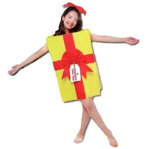 顔出し着ぐるみ プレゼントコスチューム [コスプレ 衣装 パーティー クリスマス]|event-ya