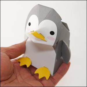 のりもハサミもいらない「段ボールペーパークラフト」水族館貯金箱 ペンギン 10個/メール便対応 [動画有]|event-ya
