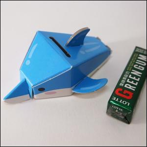 のりもハサミもいらない「段ボールペーパークラフト」水族館貯金箱 イルカ 10個/メール便対応 [動画有]|event-ya