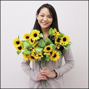 夏装飾 ひまわりスプレー 52cm / 向日葵 ヒマワリ 飾り ディスプレイ|event-ya