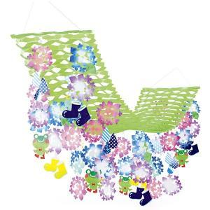 アジサイしずくプリーツハンガー L180cm / 装飾 飾り ディスプレイ 紫陽花 梅雨|event-ya