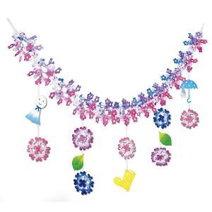 あじさいレインガーランド  L180cm【紫陽花・梅雨・ディスプレイ・装飾・飾り付け】|event-ya