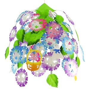 てるてる坊主 あじさい3段センター H60cm / ディスプレイ 飾り 装飾 紫陽花 梅雨|event-ya