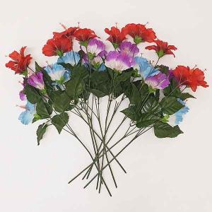 夏装飾  ハイビスカススプレー 58cm[花・夏・ディスプレイ・装飾・飾り付け]|event-ya
