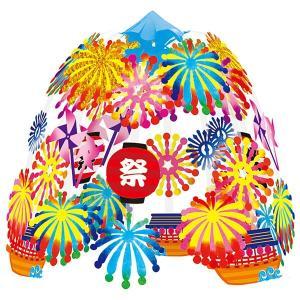 花火ちょうちん祭り2段センター / 装飾 飾り ディスプレイ|event-ya