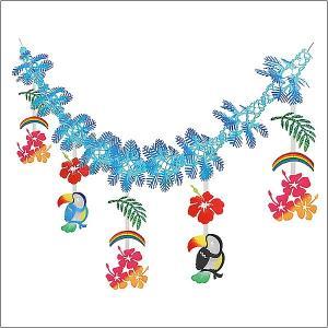 夏装飾  トロピカルパインガーランド L160cm/ディスプレイ・装飾・飾り付け event-ya
