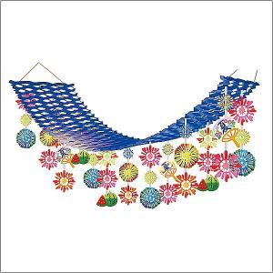 夏祭り装飾   盛夏スイカ花火プリーツハンガー  L180cm/ディスプレイ 装飾 飾り|event-ya