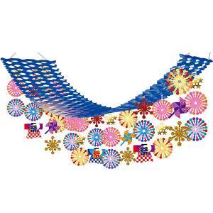 夏祭り装飾   お祭り花火ハッピプリーツハンガー L180cm / 花火・夏・ディスプレイ・装飾・飾り付け|event-ya
