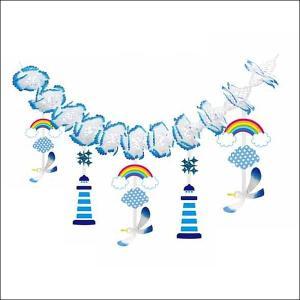 夏のマリンブルー装飾 夏のカモメマリンガーランド    L180cm[夏・海・ディスプレイ・装飾・飾り]|event-ya