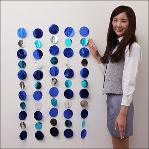 夏のマリンブルー装飾 水玉ドットチェーン(5本入)   L110cm [夏・海・ディスプレイ・装飾・飾り]|event-ya