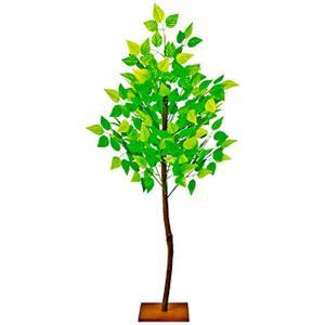 天然木使用 新緑若葉立木 124cm【夏・装飾・飾り・ディスプレイ】|event-ya