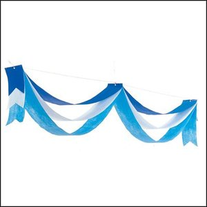 夏のマリンブルー装飾 ペナント ブルーウェーブ L180cm [夏・海・ディスプレイ・装飾・飾り]|event-ya
