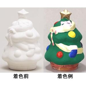 クリスマス手作り工作キット 陶器の色塗り貯金箱 クリスマスツリー 10個|event-ya