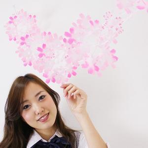 桜装飾 桜花びらネットリングガーランド L160cm / 飾り ディスプレイ 春/メール便3点まで可|event-ya
