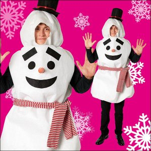 クリスマスコスチューム(男女兼用) だんごスノーマン  / サンタ・コスプレ・衣装・パーティー|event-ya
