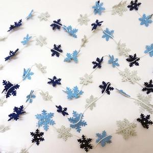ウィンター装飾 スノーフレークガーランド L120cm / 冬 雪 ディスプレイ 飾り|event-ya