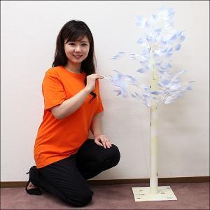ウィンター装飾 リーフ立木スタンド H132cm / 冬 雪 ディスプレイ 飾り|event-ya