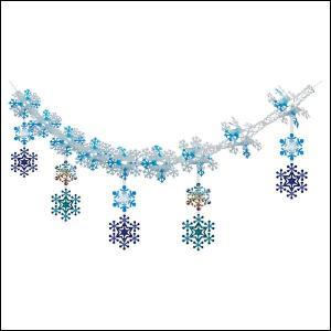 【在庫限り!特価品】1400⇒1200円 ウインター装飾 ホワイトスノーガーランド L180cm / 冬 雪 ディスプレイ 飾り|event-ya