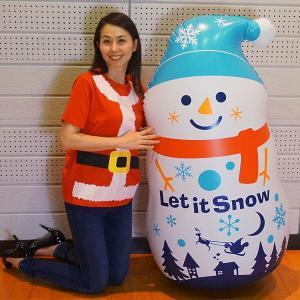 エアーPOP ビニール スノーマン H120cm 空気入付き / クリスマス ディスプレイ 装飾/動画有|event-ya