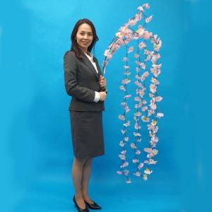 桜装飾 特大しだれ桜 L180cm たれ幅100cm / 飾り ディスプレイ 春/動画有|event-ya