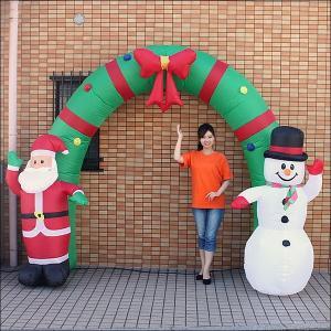 クリスマスエアブロー装飾 アーチ W350cm H240cm / ディスプレイ エアブロウ サンタ [動画有]|event-ya