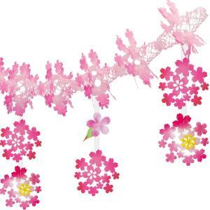 桜装飾 和桜ガーランド L180cm / 飾り ディスプレイ 春|event-ya