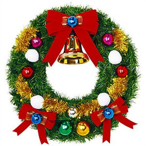 クリスマス装飾 スノーフォールリース 60cm / 飾り付け ディスプレイ デコレーション|event-ya