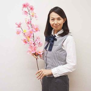 桜装飾 大桜大枝スプレー 3本枝 92cm / 飾り ディスプレイ 春|event-ya