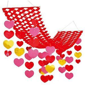 バレンタイン装飾 バリューラブリーハートハンガー L150cm|event-ya