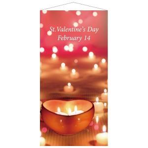 バレンタイン装飾 キャンドルタペストリー|event-ya
